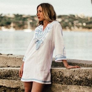 NWT!💕Les Canebiers White Tunic Dress